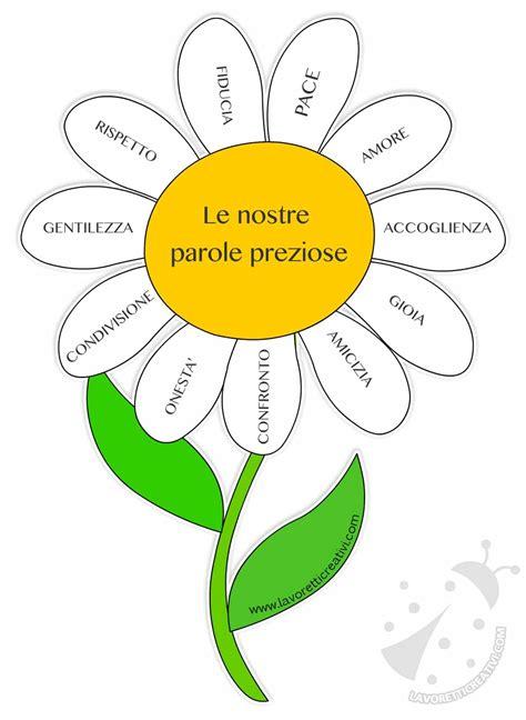 fiore simbolo amicizia fiore con le parole preziose lavoretti creativi