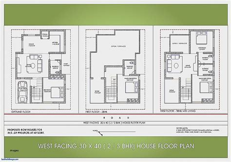 west facing house vastu floor plans house plan luxury west facing house plans as per vas