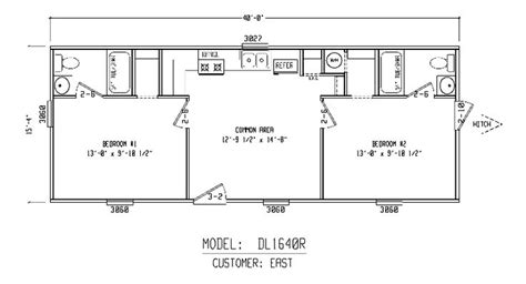 bunkhouse floor plans bunkhouse plans bunk house 16x40r cabins pinterest