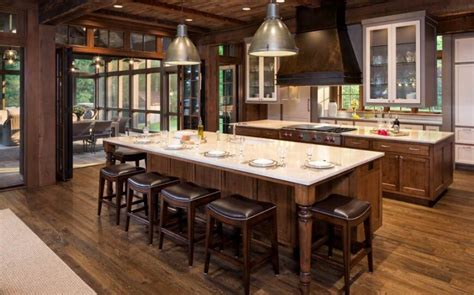 rustic kitchen islands with seating 24 incredible custom kitchen designs pictures by top