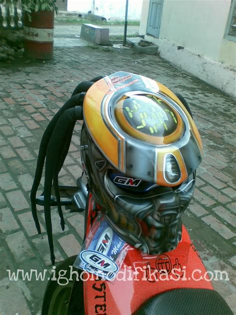 Jual Rambut Gimbal Untuk Helm igho modifikasi fighter style unlimited creation