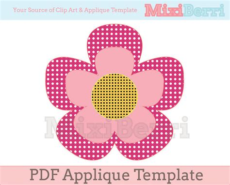 flower applique template pdf on luulla