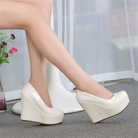 high heeled wedges white wedge high heels qu heel