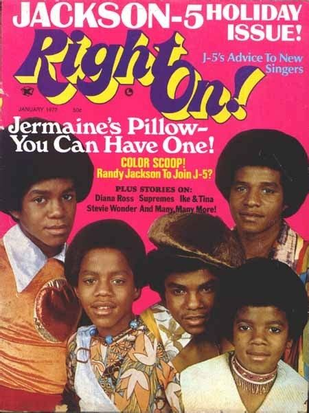On The Cover Of Magazine by The Jackson 5 On The Cover Of Right On Magazine Michael