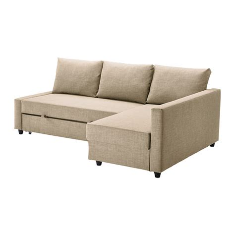 Ikea Bed And Sofa Friheten Sofa Bed With Chaise Skiftebo Beige Ikea