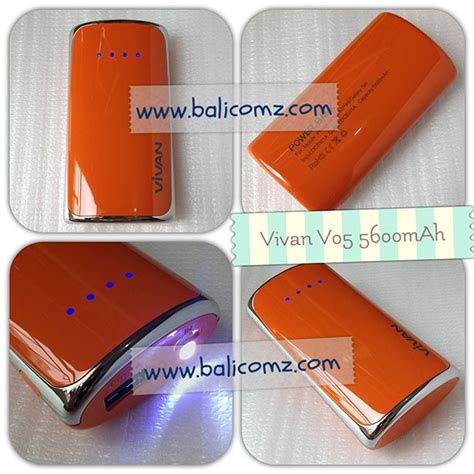 Log On Charger 2 Output Hitam power bank vivan kode produk v05 warna orange