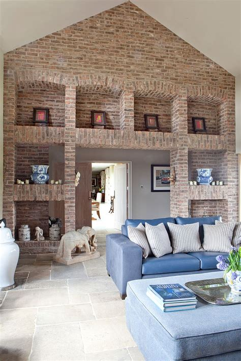 Living Room Sets Canada The Brick Imposing Brick Walls And Shelves Set The Tone In This