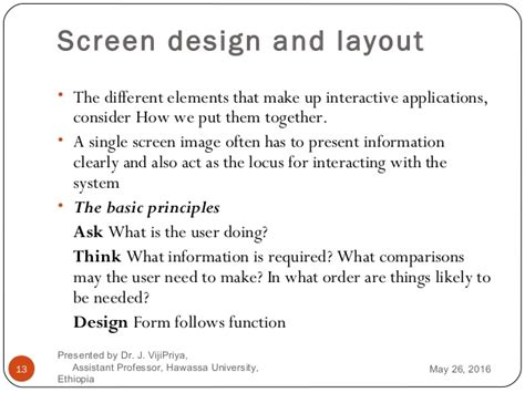 screen design and layout in hci human computer interaction chapter 2 interaction and