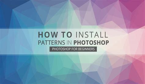 photoshop pattern how to install how to install patterns in photoshop graphicadi