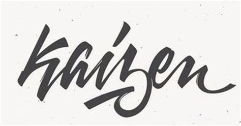 kaizen tattoo 30 awesome calligraphy hand lettering designs kaizen