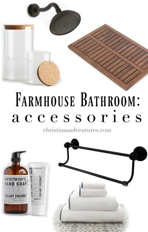 Farmhouse Bathroom Accessories Farmhouse Bathroom Design Christinas Adventures
