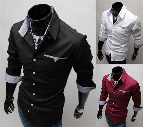 Original Gq Mens Casual Sleeve Kemeja Shirt White Purple 4zrvid black white color sleeve shirt s casual shirts