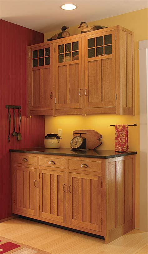 Mission Style Kitchen Cabinet Doors Craftsman Style Kitchen Cabinets Finewoodworking