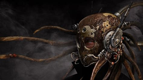 dreadlocks digital art futuristic mask smoke antenna