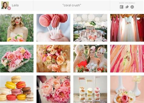 inspired   coral wedding ideas inspired