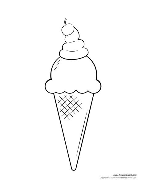 Ice Cream Party Coloring Pages | free ice cream party coloring pages