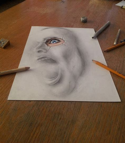 3d sketch drawing 3d pencil drawings fubiz media