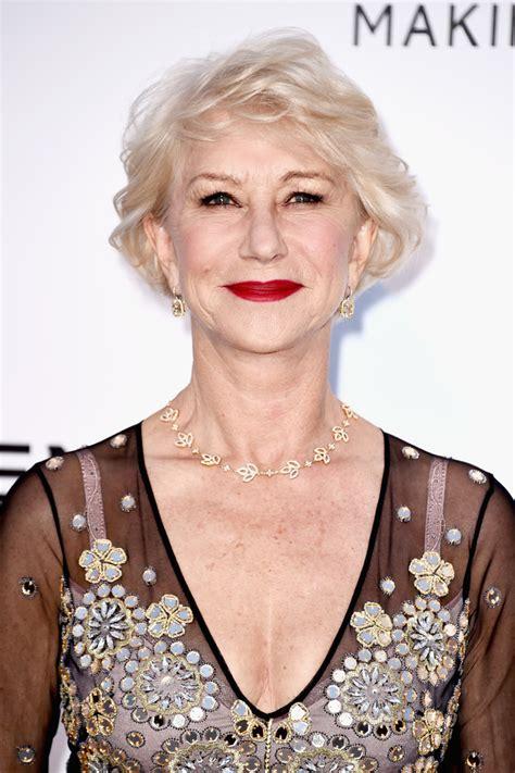 helen mirren hairstyles images helen mirren short bob hairstyle for women over 60s