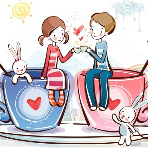 cute cartoon lover ipad wallpapers ipad backgrounds hd