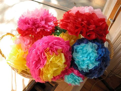 How To Make Mexican Paper Flowers With Tissue Paper - mexican tissue paper flowers