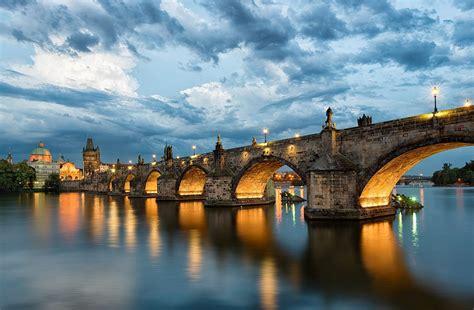 prague praha charles bridge karluv  czech republic czech republic ceska republika town river