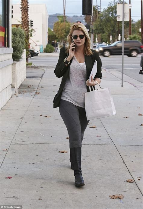 Mischa Barton Pics Now With Tights by Mischa Barton Shows Figure In Grey As She
