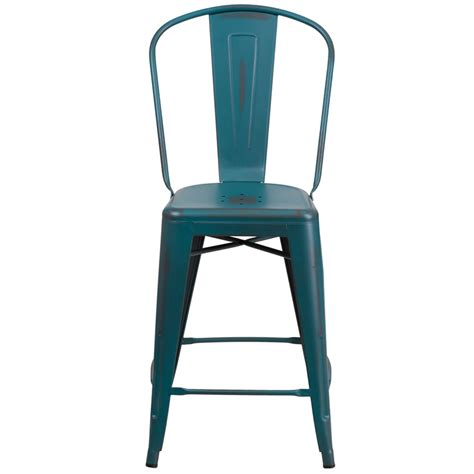 24 high bar stools gdemir me 24 high distressed kelly blue teal metal indoor outdoor