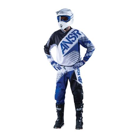 youth answer motocross gear answer syncron white black blue motocross jersey