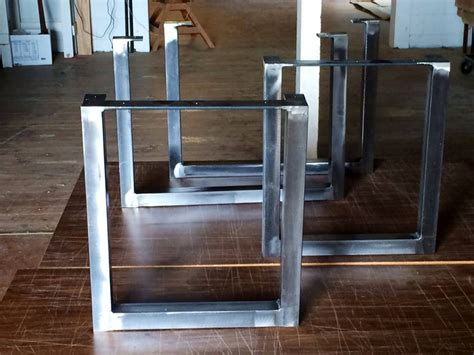 brushed square metal legs table legs steel by