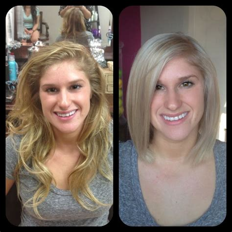 hairstyle makeovers before and after long to short haircut before and after haircuts and