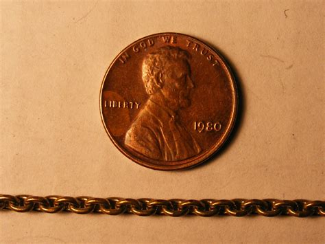 Brass L Chain by Brass Chain 12 Links Per Inch Don Mills Models
