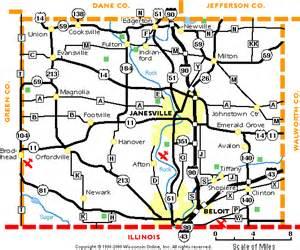 rock county wisconsin map