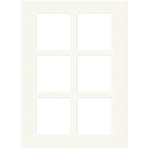 Kaboodle 300mm 6 Panel Glass Cabinet Door   Antique White