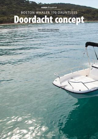 buitenboordmotor invaren boottest boston whaler 170 by varen issuu