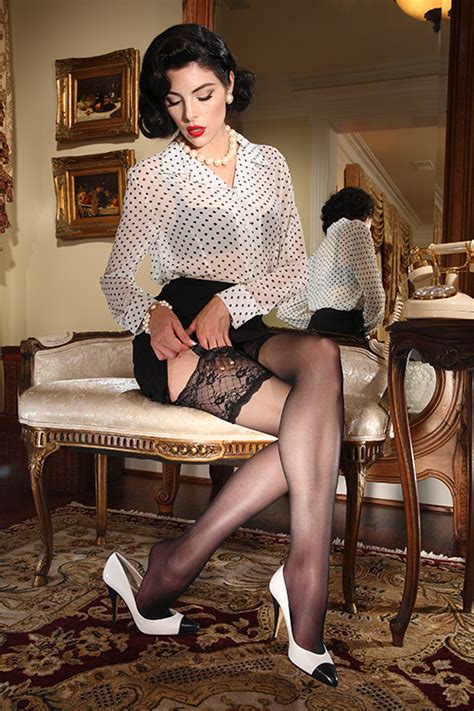 by secret in lace stockings sheer heel and toe eden lace top stocking