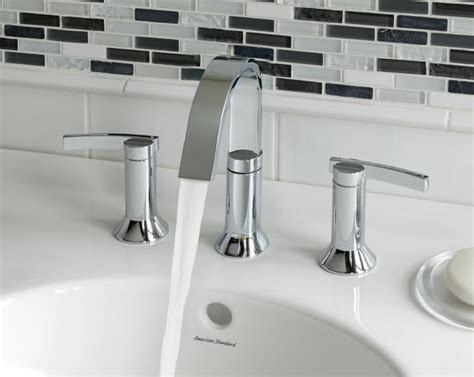 designer bathroom fixtures berwick widespread bathroom faucet w lever handle modern