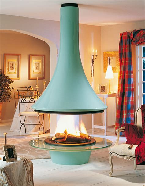 ceiling hanging fireplace from bordelet bold and