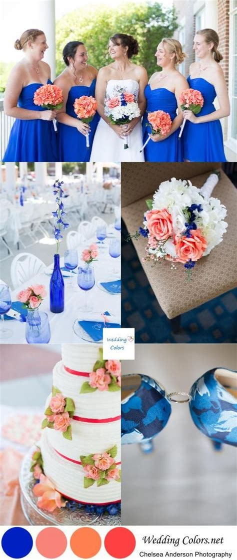best 25 blue coral weddings royal blue and coral wedding theme www pixshark