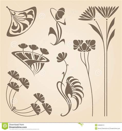 design elements of art nouveau vector art nouveau elements stock vector image 49928474