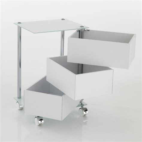 cassettiere con rotelle dennis cassettiera con ruote in vetro e legno 3 o 5 cassetti