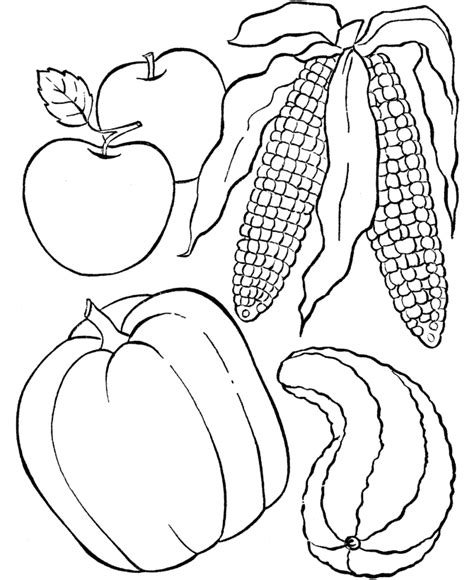autumn vegetables coloring pages thanksgiving dinner coloring page sheets fruit of the