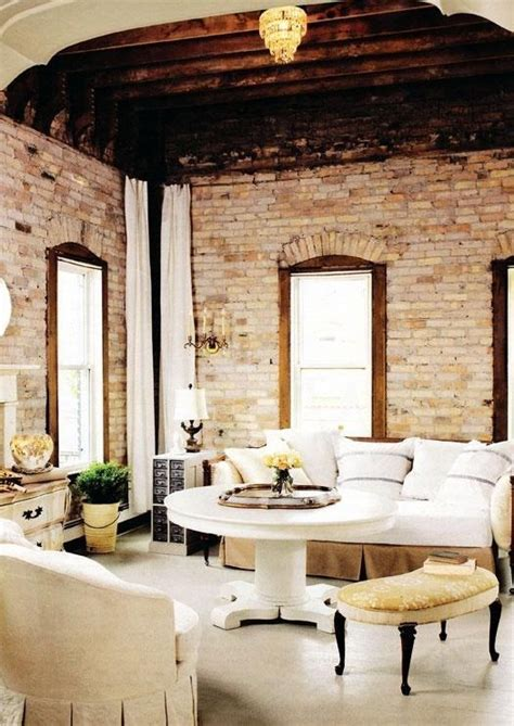 brick wall living room 59 cool living rooms with brick walls digsdigs