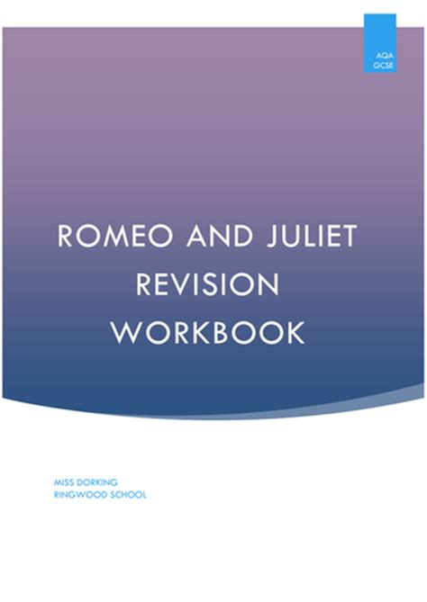 themes romeo and juliet tes aqa romeo and juliet revision workbook by uk teaching