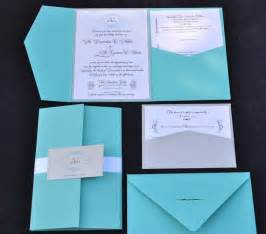 blue wedding invitation pocket fold wedding invitation any