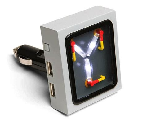 how is the flux capacitor powered flux capacitor usb car charger boing boing