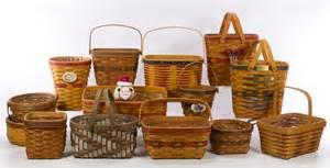 Longaberger longaberger basket assortment leonard auction