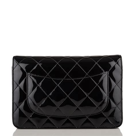 Sale Tas Wanita Lv Classic Woc chanel black quilted patent classic wallet on chain woc world s best