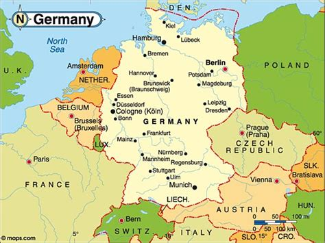 germany country map destination germany travel and tourist information