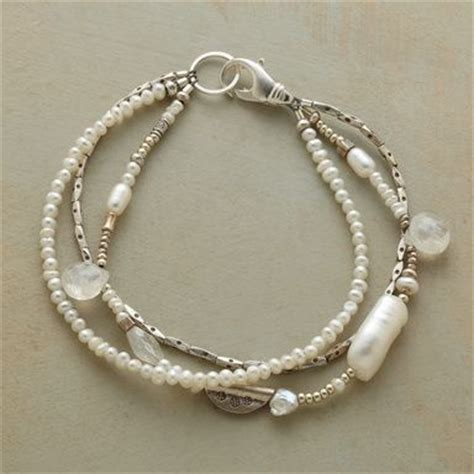 Handmade Pearl Bracelets - pearl bracelet moonstone with freshwater pearls and