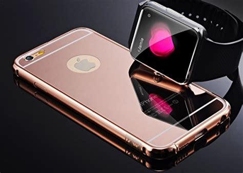 Casing Luxury Bumper Mirror Samsung Galaxy S4 iphone 6 plus gold mirror umiko tm luxury anti